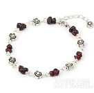 Wholesale simple and fashion garnet bracelet with lobster clasp