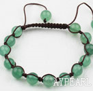 8mm Aventurine Woven Drawstring Bracelet with Adjustable Thread