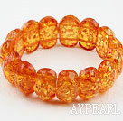 Orange Series Imitasjon Amber Elastic Bangle Bracelet