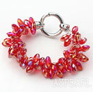 Wholesale New Design Two Rows Red Drop Crystal Bracelet