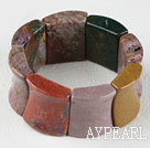 Wholesale stretchy 25*30mm India agate bangle bracelet