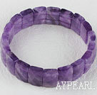 stretchy 10 * 14mm fasettert ametyst bangle armbånd