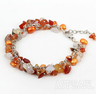 Wholesale dyed pearl and natural agate bracelet with extendable chain