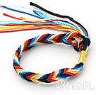 New Style Multi Color Wish Thread Adjustable Woven Bracelet