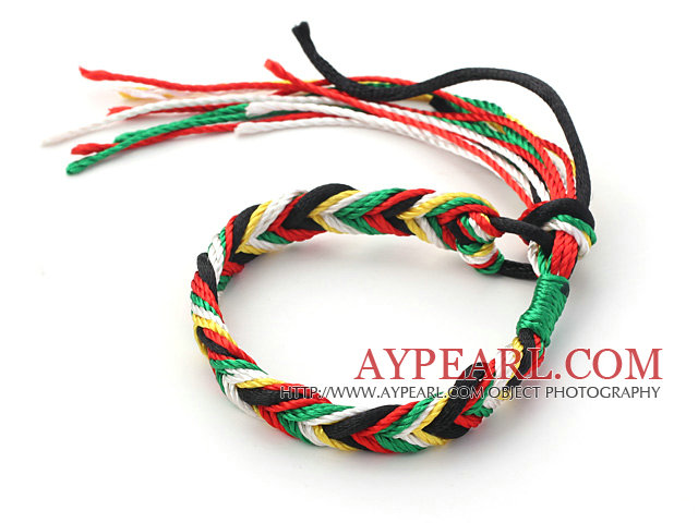 Fashion Style Multi Color Wish Thread Adjustable Woven Bracelet