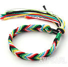 Simple Style Multi Color Wish Thread Adjustable Woven Bracelet
