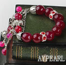 Wholesale wonderful rose color agate bracelet with extendable chain