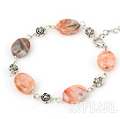 Wholesale multi cloudy stone bracelet with lobster clasp