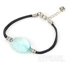 Switzerland blue crystal bracelet with extendable chain