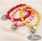 Wholesale 7.5 ches tiger eye flower beads bracelet with extendable chain