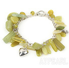 Wholesale lemon jade bracelet with toggle clasp