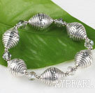 Wholesale 7.5 inches elastic clear crystal and CCB bracelet