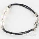 Wholesale hot style white pearl silver spacer beads bracelet with extendable chain