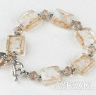 light brown manmade crystal colored glaze bracelet