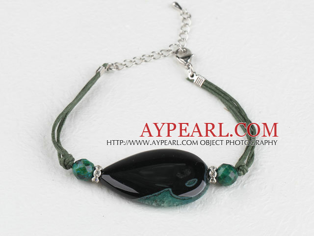 7.5 inches crystallize agate bracelet with extendable chain