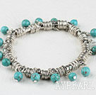Wholesale tribal jewelry lovely 6mm turquoise ball bracelet