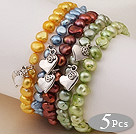 7.5 inches 8-10mm glass beads stretchy bracelet