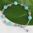 Wholesale 7.5 inches amazon stone bracelet with extendable chain