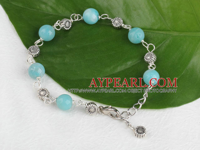 7.5 inches amazon stone bracelet with extendable chain