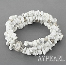 Wholesale 7 inches 3 strand 6-8mm howlite bracelet