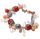 Wholesale 7.5 inches manmade red crystal bracelet with extendable chain