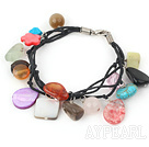 Wholesale multi color stone bracelet with lobster clasp