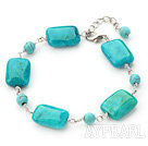 7.5 inches turquoise and blue spider stone bracelet with extendable chain