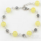 lovely 7.5 inches citrine bracelet with extendable chain