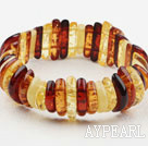 Multi Color Long Branch Shape Imitation Amber Elastinen rannerengas rannerengas
