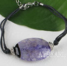 Wholesale Simple style purple agate stone bracelet with adjustable chain