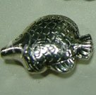 Alloy beads, 6*15mm fish.Sold per pkg of 100.