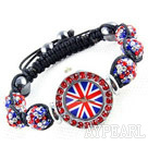 Fashion Style Red and Blue Farbe Strass Ball Watch Drawstring Bracelet