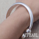 Enkel design Handmade 999 Sterling Silver Bangle Bracelet