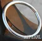 Enkel design Handgjorda 999 Sterling Silver Tunn Bangle Armband
