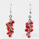 Wholesale Cluster Style 4mm Red Crystal Earrings