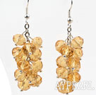 Wholesale Cluster Style Amber Color Crystal Earrings