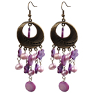 Fashion Style Rose strass Boucles d'oreilles Clous à billes