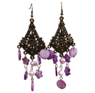Fashion Style Rouge strass Boucles d'oreilles Clous à billes
