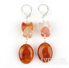Classic Design Natural Color Agate Ohrringe