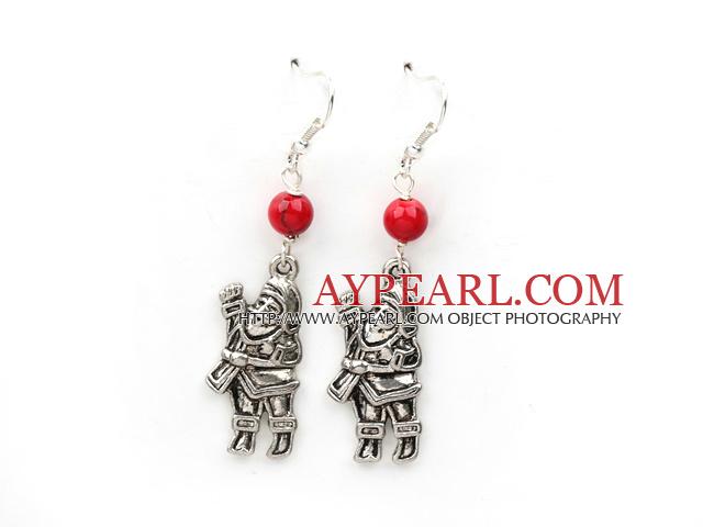 Simple Design Alaqueca and Santa Claus' Shape Xmas/ Christmas Earrings