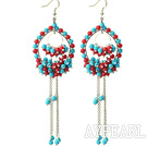 Wholesale Dangle Style Assorted Red Coral and Turquoise Earrings