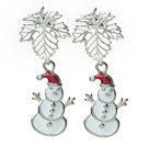 Fashion Style 2014 Christmas Design Snowman Shape Studs Earrings