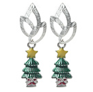 2014 Christmas Design Fashion Style Christmas Tree Shape Earrings