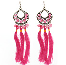 Wholesale New Design Pink Style 6-7mm Pink Pearl Tassel Dangle Earrings