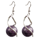 Wholesale Fashion Lovely Design Faceted Amethyst Bead Dangle Earrings
