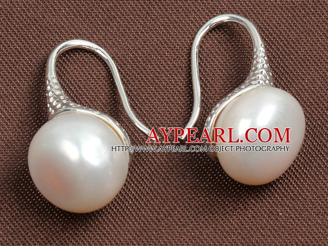 Simple Style Natural White Freshwater Pearl Earrings
