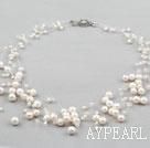 Ten Strands White Freshwater Pearl Bridal Necklace