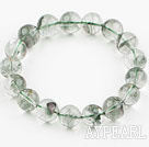 Wholesale 15mm Round Fancy Star Style Green Phantom Beaded Elastic Bangle Bracelet