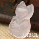 Rose Quartz Fox Shape Animal anheng (No Chain)