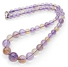 Naturlig Double Color Ametrine Beaded halskjede